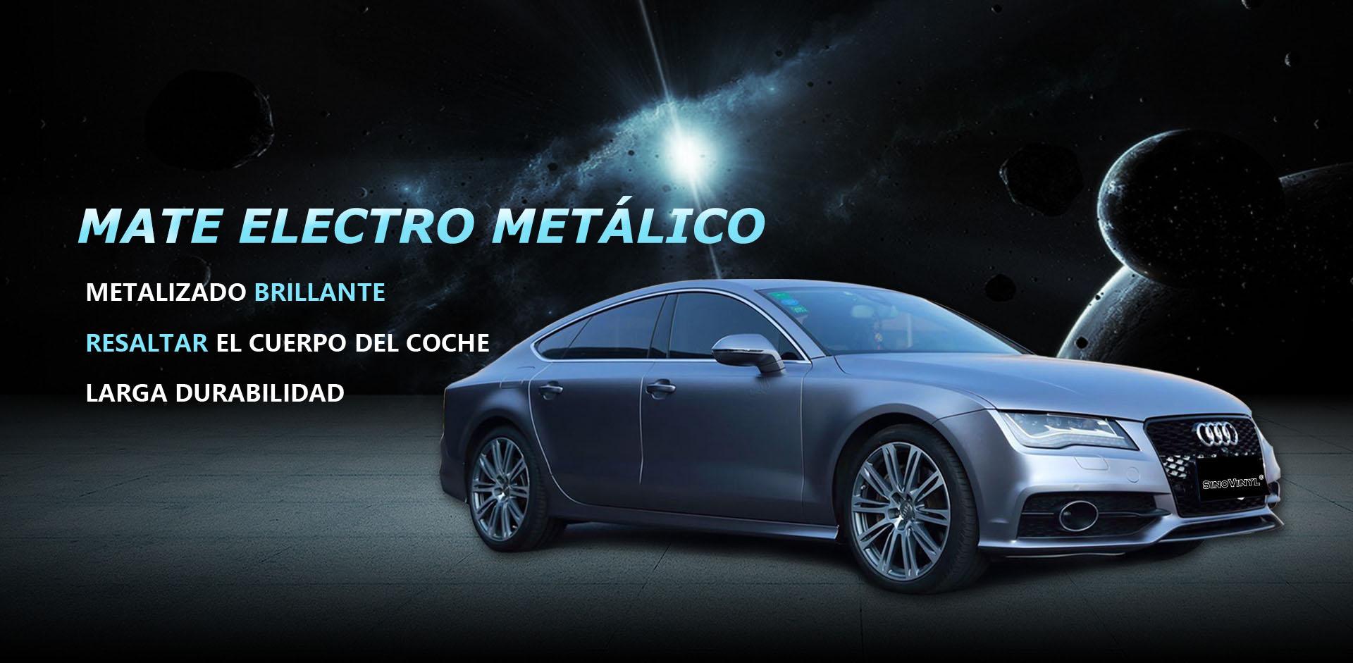 CARLIKE CL-EM Envoltura de automóvil de vinilo metalizado mate