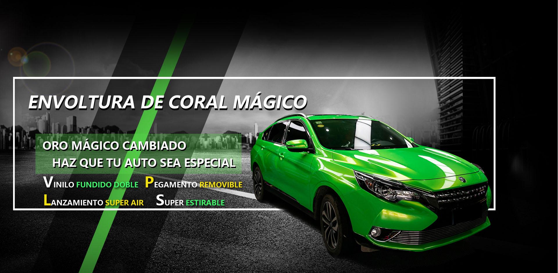 CARLIKE CL-MC Película de envoltura de automóviles automotrices de vinilo mágico coral